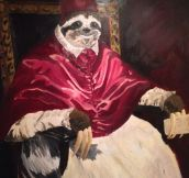 Pope sloth…