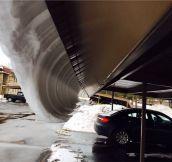 Upside down snow wave…