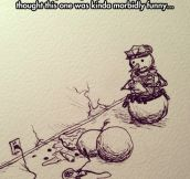 The snowman was facing some troubles…