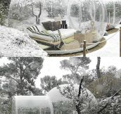 A reverse snow globe…