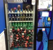 Someone doesn't know how vending machines work…