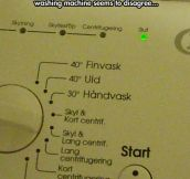 Judgmental washing machine…