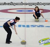 Curling and women…