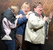 This Haunted House Takes a Photo of People Being Scared:D
