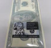100 Dollar Bill Printed Tissues