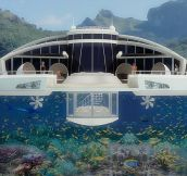 The Luxury Floating Island Resort- But It Comes With a £145MILLION Price Tag