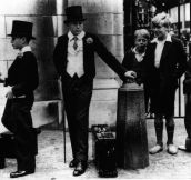 """Toffs and Toughs"" – The famous photo by Jimmy Sime that illustrates the class divide in pre-war Britain, 1937"