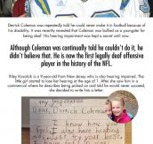 Hearing-impaired little girl writes to NFL player Derrick Coleman, this is his response…