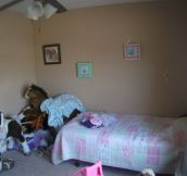 It Started As A Little Girl's Very Normal Bedroom. Wait Til You See What Her Dad Did… Holy Cow!