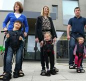 Harness invented by a mother of a child with cerebral palsy, helps disabled children walk for the first time..#4 is just Incredible