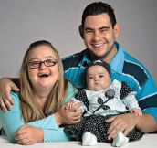 Gabriela has down syndrome and Fabio struggles with a slight mental delay. Their daughter Valentina, was born with no mental disability. Everyone deserves happiness. This family is beautiful.