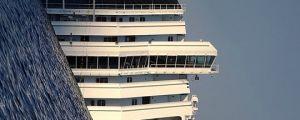 Costa Concordia before it was refloated