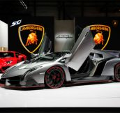 Lamborghini Veneno (valued at USD $5.1 millon)