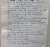 When This Couple Broke Up, She Put A List Of Reasons For Her Decision Down On Paper…The Results Are Brilliant!