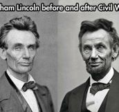 Before and after the civil war…