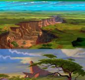 Background Art from The Lion King…