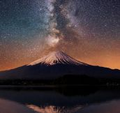 The Milky Way Behind Mt. Fuji, Japan