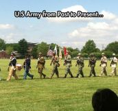 Evolution of the U.S. Army uniform…