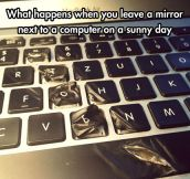 Sunny day disaster…