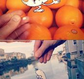 Cartoon Doodles in real life…