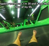 Trampoline warehouse…