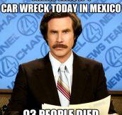 Car wreck…