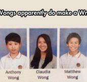 You're Wong!