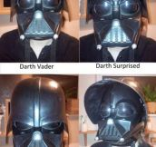 Darth Vader's range of emotions…