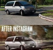 Before and after Instagram…
