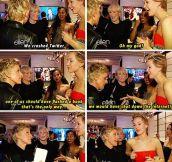 Ellen and Jennifer Lawrence on crashing Twitter…