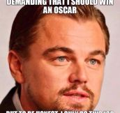Leonardo DiCaprio's response to not winning an Oscar…