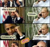 Putin confronts Obama on the Ukraine issue…