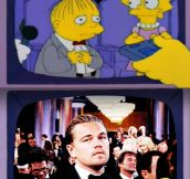 Watching the best actor award at the Oscars…