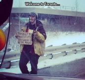 Homeless Man In Toronto