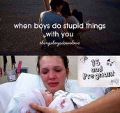 When boys do dumb things…