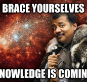 On Neil DeGrasse Tyson Hosting Cosmos