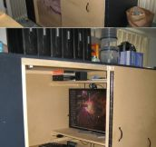 A very private gaming station…