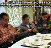 Kids these days, with their cellphones…