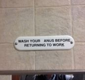 Hygiene is important at work…