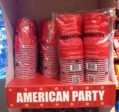 Real American Party Cups