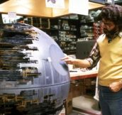 Over-looking the construction of the second Death Star..
