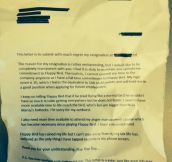 This Student Gave His Boss His Letter Of Resignation…Wait Until You See What He Wrote!