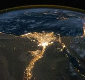 The Nile river from space.