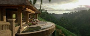 A beautiful porch on a magnificent Bali hillside. Can't imagine a more perfect place for your morning cup of coffee.