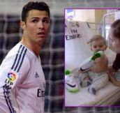 This Is What Makes An Athlete A Role Model. Soccer Superstar Ronaldo Saves A Child's Life
