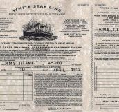 This is the real Titanic Original Ticket…