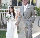 Cancer-Stricken Dad Walks 11-Year-Old Down The 'Aisle' Because He Won't Be There For The Real Thing