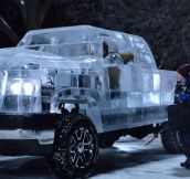 This Truck Is Made Of Ice And You Can Actually Drive It