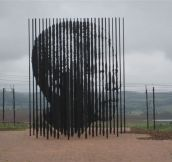 This Monument to Nelson Mandela is Only Visible From a Distance