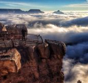 River Of Fog – Grand Canyon Experiences A 'Once In A Lifetime' Event. It Was Beautiful